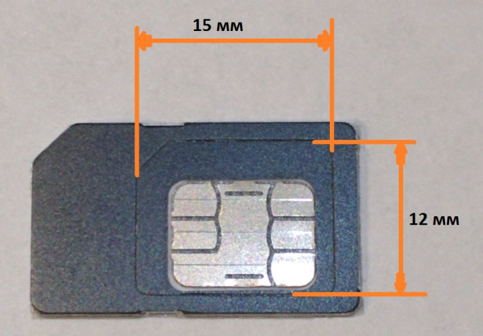 Как вырезать микро сим-карту
