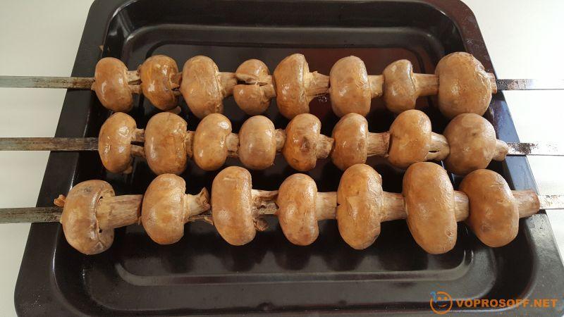 Шампиньоны на мангале рецепты с фото